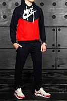 Молодежный спортивный костюм найк (Nike) красный с черным реплика