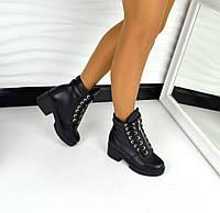 Стильные демисезонные ботинки Balm@in натуральная кожа внутри флис, цвет черный
