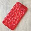 Красный Cиликоновый чехол для iphone 6 6S с эффектом граней камня