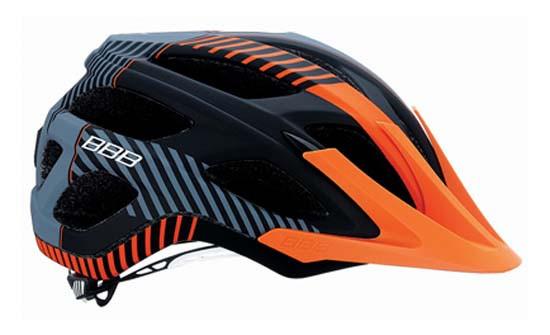 Шлем велосипедный BBB BHE-68 Nerone черно-оранжевый