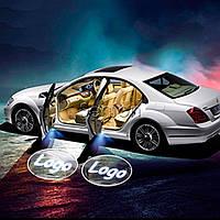 Подсветка логотипа на двери авто