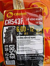 Резина на мотоблок 6.00-12 десяти слойная Casumina Вьетнам , фото 3