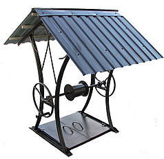 Домик для колодца, крыша для колодца и ворот (кованый металлический каркас)