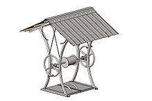 Домик для колодца, крыша для колодца и ворот (кованый металлический каркас), фото 2