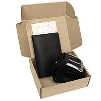 Подарочный набор №15 (черный): Ремень мужской + чехол 4 в 1
