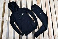Мужской осенний спортивный костюм найк (Nike) черный