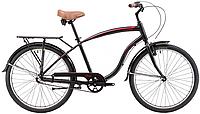 "Велосипед 26"" WINNER CORSA (beach cruiser) 2017 18"" черный"