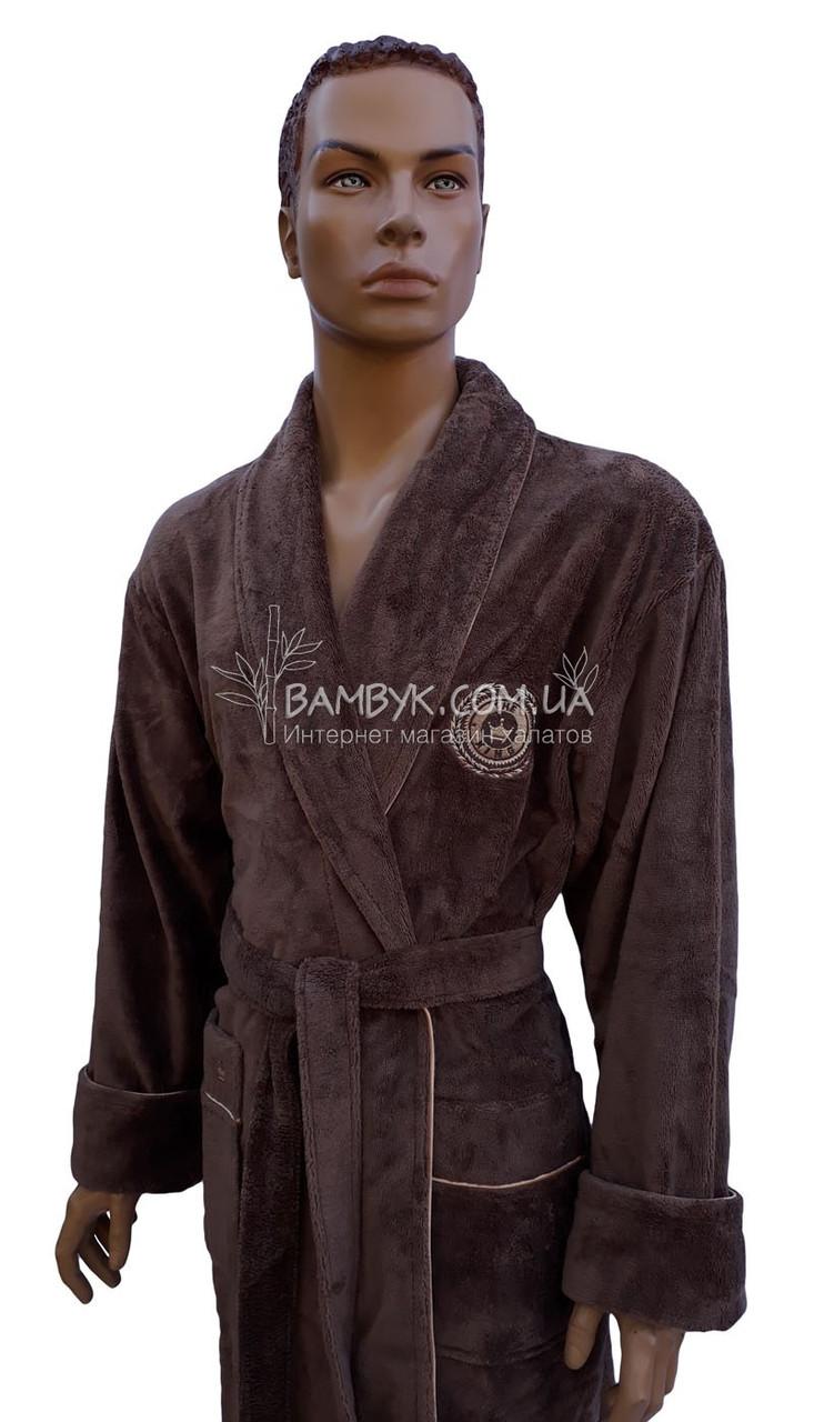 c09688000021900 Халат мужской бамбуковый Nusa (коричневый) № 2890: продажа, цена в ...