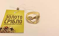 """Кольцо """"Сердце"""" золотое с бриллиантами. Вес 5,33 грамм."""