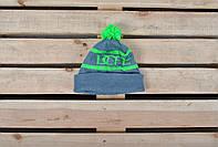 Молодежная зимняя шапка с помпоном Dope реплика