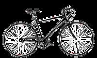 """Велосипед 28"""" CYCLONE DC-NEXUS 2016 21"""" черный"""