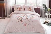Двуспальное евро постельное белье TAC Martha Pink Сатин