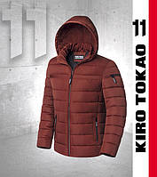 Куртка японская мужская зимняя Киро Токао - 8812 красно-оранжевая