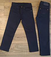 Штаны,джинсы на флисе для мальчика 2-6 лет(розн)(темно синие) пр.Турция