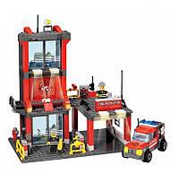 Конструктор Пожарная станция 300 элементов