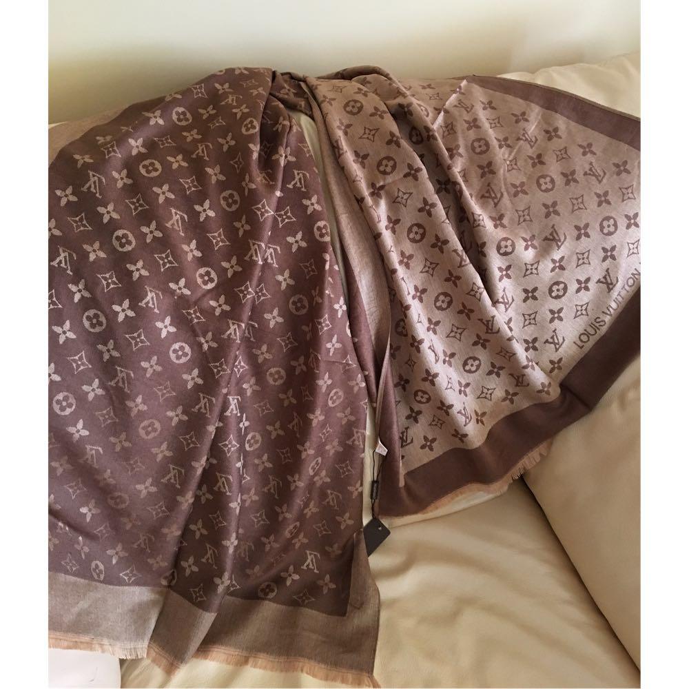 c30e3cf85164 Палантин шарф брендовый 100% шерсть, двусторонний платок в стиле ЛВ