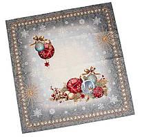"""Скатерть гобеленовая Новогодняя 97Х100 """"Ночь перед Рождеством"""" (с золотой люрексовой ниткой)"""