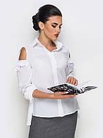Жіноча біла блузка з вирізами Irides