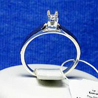 Помолвочное кольцо из серебра с золотой накладкой кс 1223 з.нак