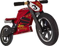 """Беговел 12"""" Kiddimoto Heroes деревянный, с автографом Joey Dunlop TT  красный"""