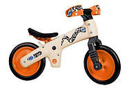 Велосипед (беговел) Bellelli B-Bip обучающий 2-5лет, пластмассовый, бежевый с оранжевыми колёсами  бежевый