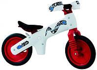 Велосипед (беговел) Bellelli B-Bip обучающий 2-5лет, пластмассовый, белый с красными колёсами  белый