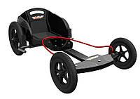 Карт детский Kiddimoto Box Kart фанерный, дизайн GT Racing  черный
