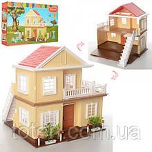 Ляльковий будиночок Вілла 1514, 2 поверхи, підсвічування без меблів і ляльок (аналог Sylvanian Families)