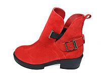 Демосезонные женские ботинки замшевые Oleksy Stael 1721 Red Размер: 36 39 40