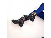 Демосезонные женские ботинки нат.кожа Oleksy Stael 1721 Black р.40