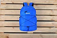 Рюкзак спортивный/городской/повседневный Supreme, голубой реплика, фото 1