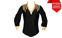 Рубашка боди Латина ESY1022 (нейлон,эластан,р-р XS-120см,S-130см, M-140см,L-150см, XL-160см,чер-ор)