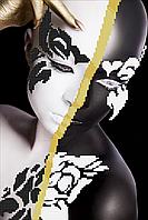 Схема вышивки бисером Черно-белая леди