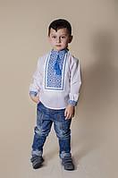 Вишиванка для хлопчика: Святослав полотно синя
