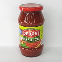 Соус томатный с базиликом DERONI BASILICO SAUSE 520 г