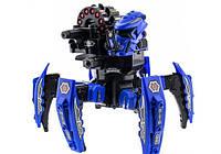 Робот-павук р/у Keye Space Warrior ракети, диски, лазер (синій)