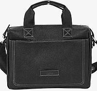 Мужская кожаная сумка-портфель Mk-33.1 черная