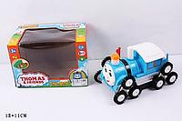Детская машинка Перевертышна батарейках Томас9905 -2 цвета, свет., звук, на батар., в коробке
