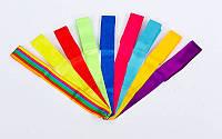 Лента для художественной гимнастики l-6м (без палочки) C-5517 (лента-нейлон l-6м, цвета в ассортименте)