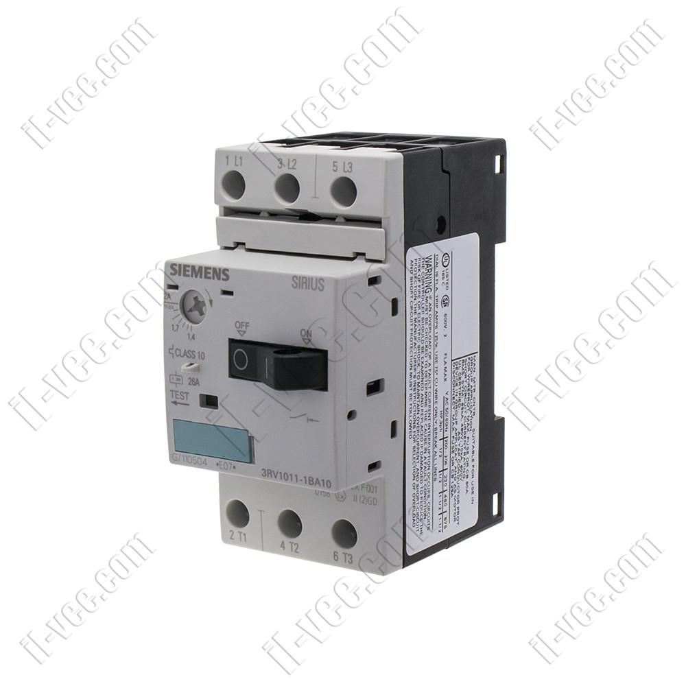 Автоматический выключатель защиты двигателя 3RV1011-1BA10 1,4-2A Siemens
