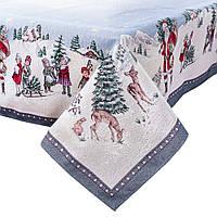 Скатерть гобеленовая Новогодняя 180х140 SKG07