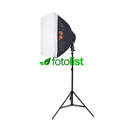 Постоянный флуоресцентный свет Falcon LHD-B628FS, 60х60 см, 6х28w, 840 Вт, 5500К + стойка 2.0 м