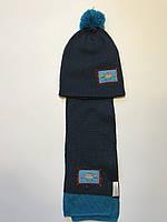 Шапка, шарф, Lupilu набор на мальчика 4-8 лет