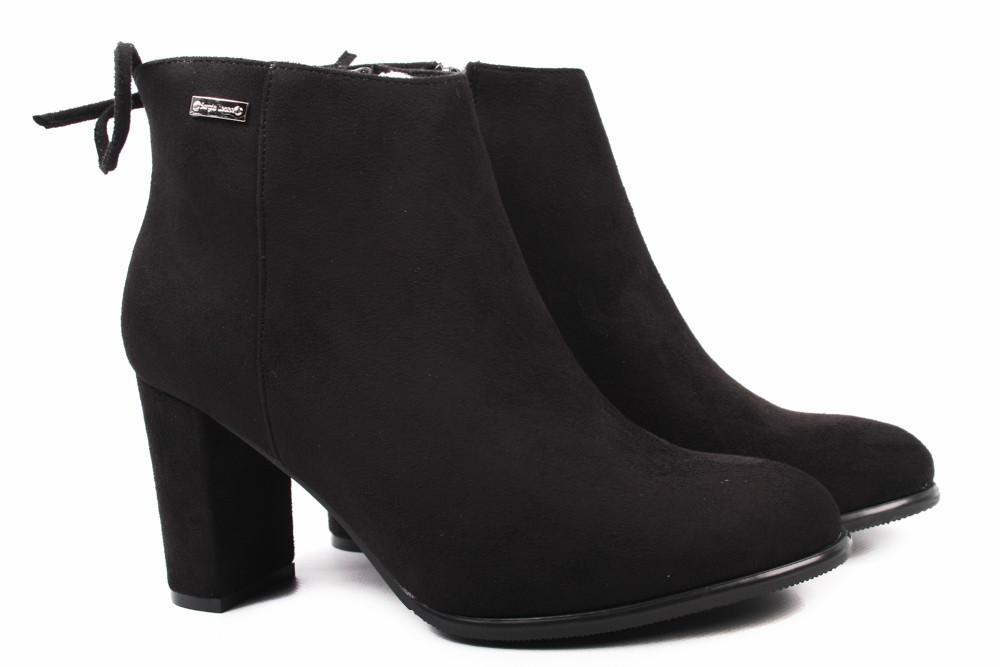 Ботинки женские Sergio Leone эко-замш, цвет черный (ботильоны, каблук,  комфорт 689958d8aca