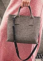 """Жіноча сумка з фетру """"Lady"""" сумка ручної роботи від української майстерні PalMar, сумка с войлока"""