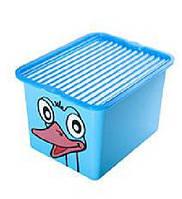 """Ящик для хранения 13л с крышкой """"C-BOX"""" прозрачный BranQ"""