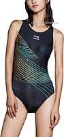 Профессиональный слитный купальник для бассейна / без чашечек /  Diezi PH 10085-черный