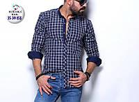 Рубашка мужская приталенная на кнопках