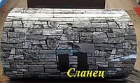 """Профнастил Т-8 0,4мм Printech (Принтек) под камень """"Сланец"""",Украина(Black sea steel)"""
