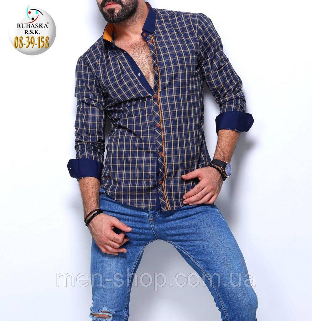 Мужская рубашка приталенного пошива